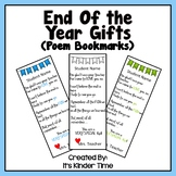 End of the Year Poem Bookmark Editable