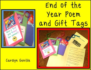 End of the Year Poem and Gift Tags