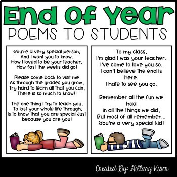 End of Year Poems to Students