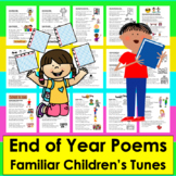 End of the Year Activities: Songs and Poems Distance Learning