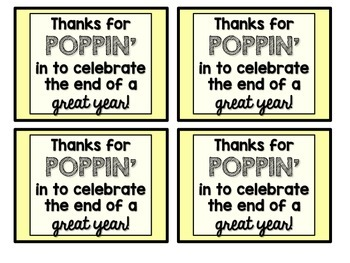 End of the Year Popcorn Party Favors {FREEBIE}
