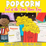 End of the Year Activities Popcorn Day   Distance Learning