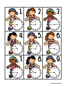 End of the Year: Popsicle Telling Time Match (Quarter to :45)