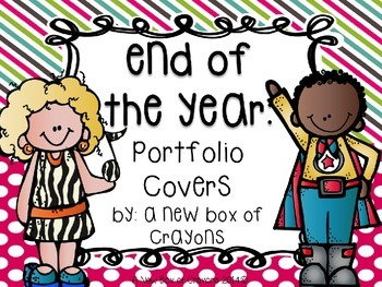 End of the Year Portfolio Covers! *EDITABLE*