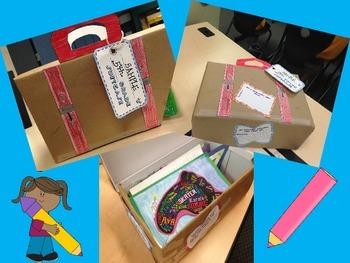 End of the Year Portfolio Suitcase 'Shoebox' Craftivity