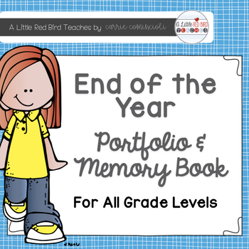 End of the Year Portfolio and Memory Book {Editable}