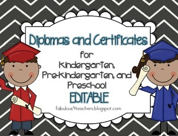 Certificates~Editable for Preschool, Pre-Kindergarten, and ...