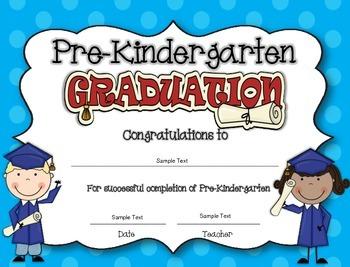 printable pre k graduation certificates