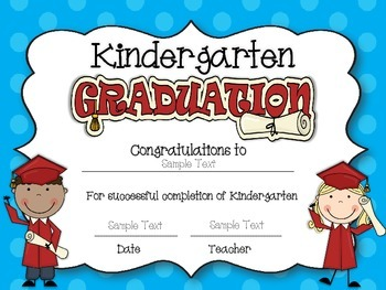 Diplomas/Certificates~Editable for Preschool, Pre-Kindergarten, and Kindergarten