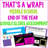 End of the Year Presentation Assignment ~Middle School ELA