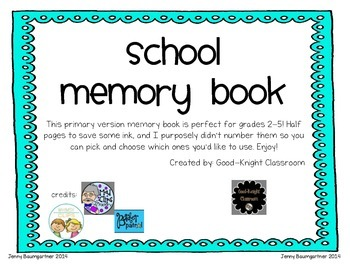End of the Year PrimaryMemory Book