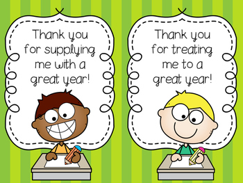 End-of-the-Year Printable Thank You Notes for Teacher Gifts - Updated
