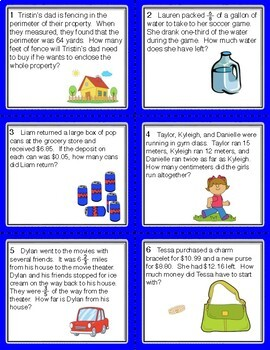 End of the Year Problem Solving Task Cards