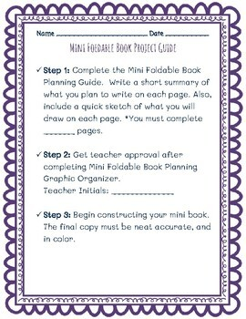Mini Foldable Book Project for Any Subject