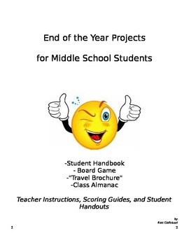 End of the Year Projects for Middle School Students