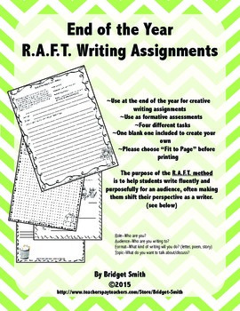 End of the Year R.A.F.T. Activities