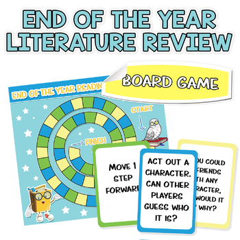 End of the Year - Reading Literature - Challenge Prompts