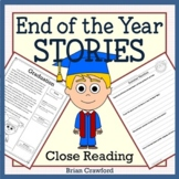 End of the Year Close Reading Comprehension Passages & Writing Distance Learning