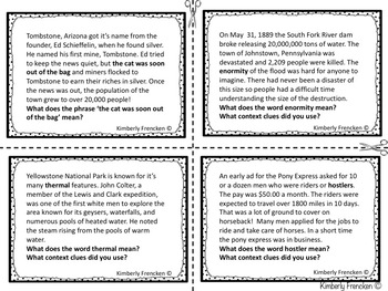 End of the Year Reading Review Task Cards