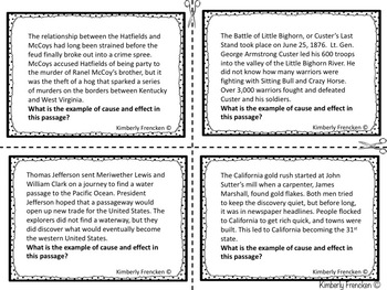 Nonfiction Reading Task Cards for Review or Test Prep