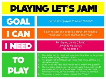 End-of-the-Year Reading Review: Test Prep Scoot & Board Game {Let's Jam!}