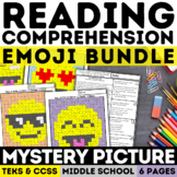 Emoji Reading Skills Mystery Picture Bundle