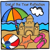 End of the Year Reflection (Editable Freebie)