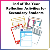 End of the Year Reflection Activities for Secondary Students