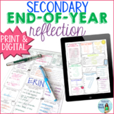 End of the Year Reflection Activity for Secondary Students