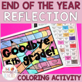 End of the Year Reflection Coloring Activity   Distance Learning