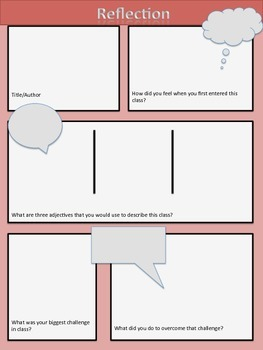 End of the Year Reflection Comic
