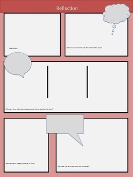 End of the Year Reflection Comic (editable)