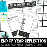 End of the Year Reflection - Note / Letter to Students Next Year