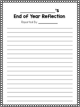 End of the Year Reflection & Peer Interview