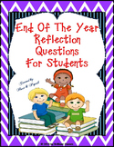 End of the Year Reflection Questions Card