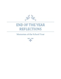 End of the Year Reflection Survey and Memory Book