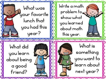 End of the Year Reflection Task Cards FREEBIE