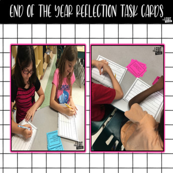 End of the Year Reflection Task Cards- {Includes Editable