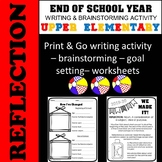End of the Year Reflection - Upper Elementary - Summer Goa