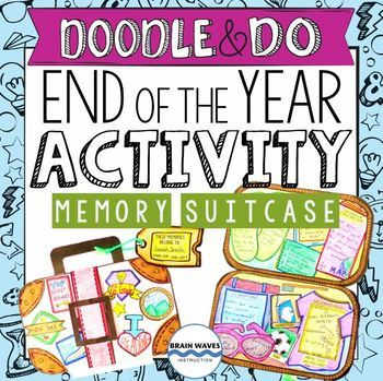 End of the Year Reflection and Activity – Doodle Suitcase of Memories