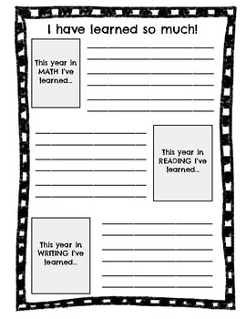 End of the Year Activity Book