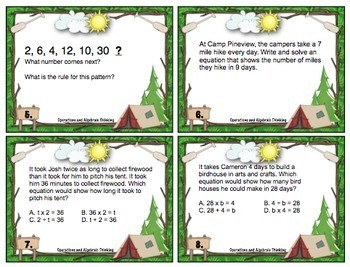 End of the Year Math Review: 4th Grade Task Cards