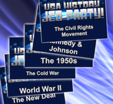 End of the Year Review Bundle - 6 U.S. History Units - U.S. History Jeo-Party!
