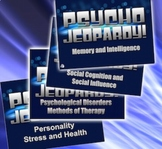 End of the Year Review Bundle 8 Psychology Units - Psycho Jeopardy!