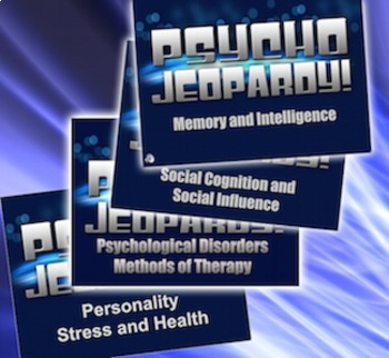 End of the Year Review Bundle 8 Psychology Units - Psycho