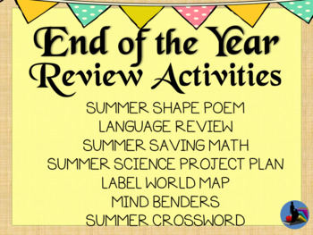 End of the Year Review for All Subjects