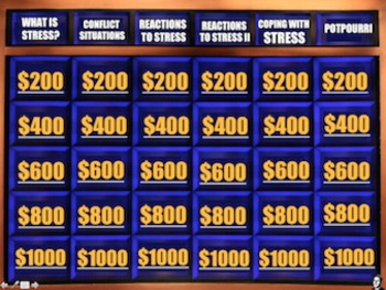 End of the Year Review for Personality & Stress - Psycho Jeopardy!