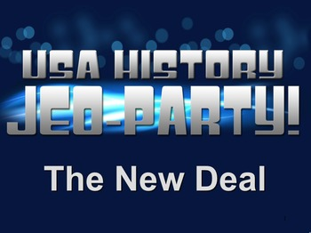 End of the Year Review for the New Deal Jeo-Party Game!