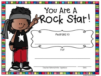 """End of Year Awards """"Rock Star"""" with Editable PowerPoint File"""