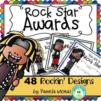 "End of Year Awards ""Rock Star"" with Editable PowerPoint File"
